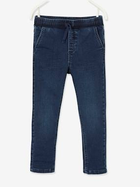 Straight Leg Jeans, Pull-On Cut, Lined, for Boys dark grey